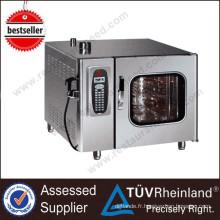 Four électrique de Combi de vapeur de l'acier inoxydable 6-Tray / Gn1 / 1 de Guangzhou