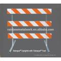 Traffic Safety Barricades Using Angle Iron Feet