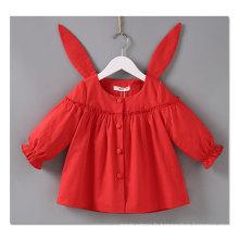 71111 Rouge mignon vêtements de lapin pour bébé fille 100% coton
