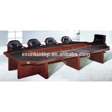 Mesa de reunião de estofos de papel para escritório usado, mesa de reunião de camada dupla fornecer (T08)