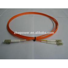 China supply Duplex multimode 62.5/125 mm LC UPC Fiber optic Jumper/patch cord