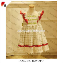 lovely lace checkd cotton toddler dress