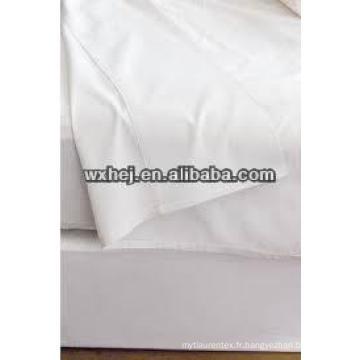 hôtel blanc égyptien polyeseter coton linge de lit tissu