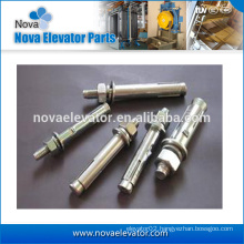 China standard size anchor bolt| elevator gudie rail parts | lift anchor bolt with nuts and washers