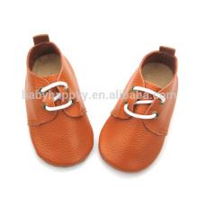 Chaussures en cuir marron de qualité chaude chaussures de bébé en cuir pur Vente en gros