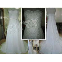 HH0601 2011 New Fashion A-Line Customized Real Lace Bridal Dress Collection