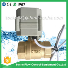 Dn25 2 Way 1 Inch Brass Cr2 01 DC12/24V Electric Ball Motorized Valve Controller