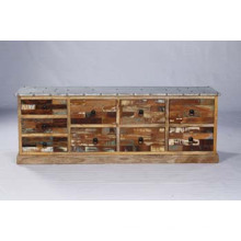 Aparador industrial de la cama de madera lateral