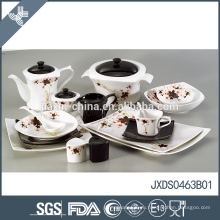 Простой чистый оптовой моды цветок декор дизайн фарфора марокканский стиль посуда набор