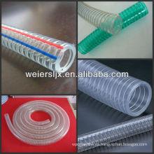 línea de extrusión de manguera de alambre de acero PVC suave