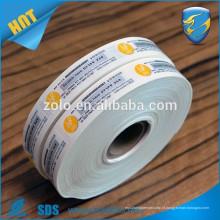 Etiquetas de vinil quebráveis ultra holograma, etiqueta de vedação de segurança de carga, papel de casca de ovos destruição Garantia Etiqueta de segurança