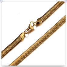 Joyería accesorios de acero inoxidable cadena de moda collar (sh027)