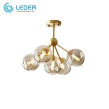 LEDER Modern Glass Staircase Chandeliers