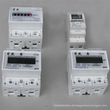 Medidor de Watt-Horas Montado em Trilho DIN padrão de 35mm com Saída de Pulso