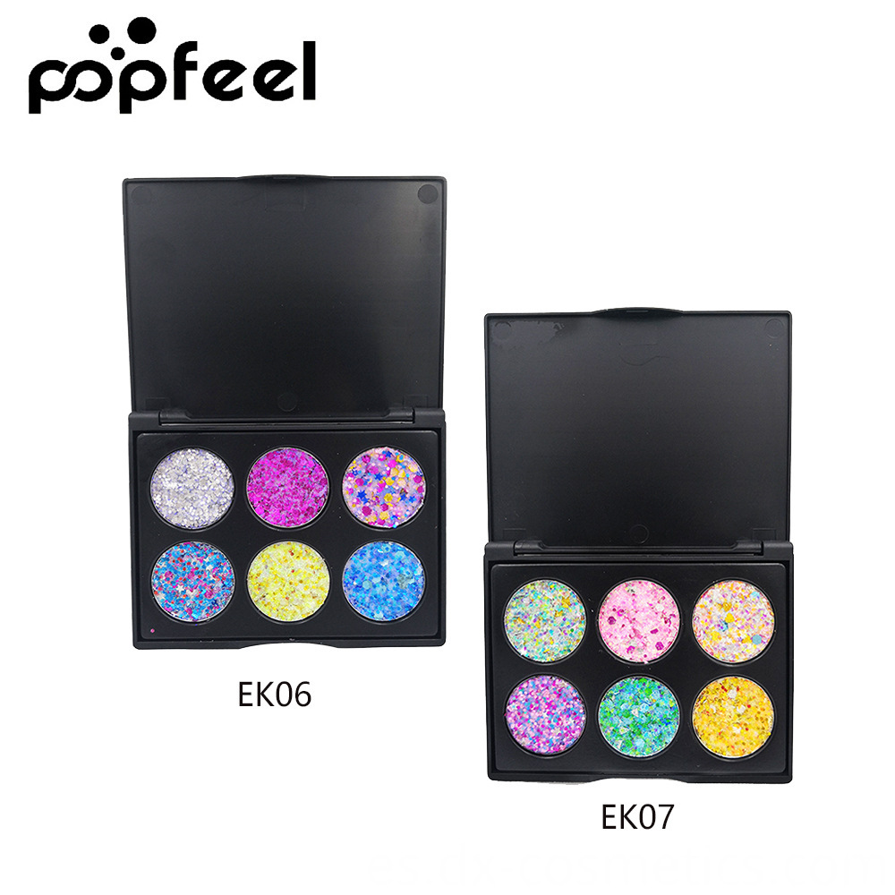 6 Colors Gligger Eye Shadow 6