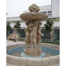 Fonte de água do jardim com granito de mármore de pedra (SY-F348)
