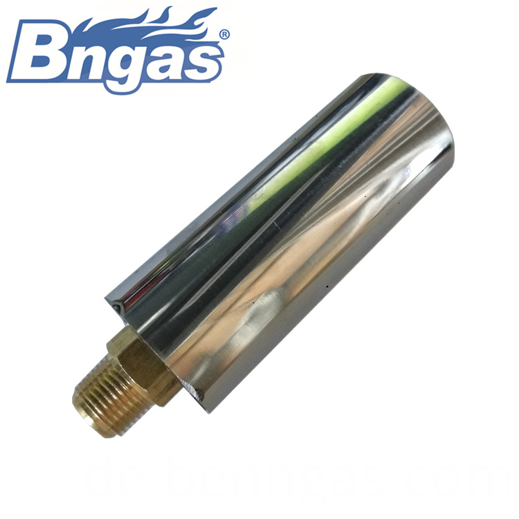 Brass nozzle gas burner