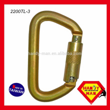 Galvanized Steel Captive Pin Type D ANSI 50kN Carabiner