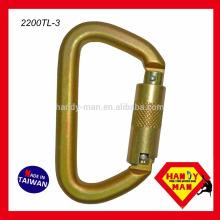 Aço galvanizado tipo captivo tipo D ANSI 50kN Carabiner