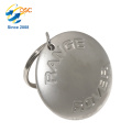 Porte-clés en alliage de zinc métal personnalisé promotionnel de haute qualité