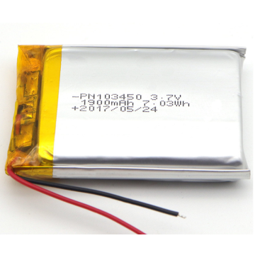 Bateria do polímero do íon do lítio de 3.7V 1800mAh (LP3X5T10)