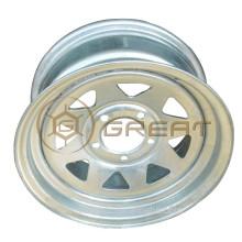 Cheap price 14 pouces PCD 5x114.3 roue de remorque de bateau galvanisée