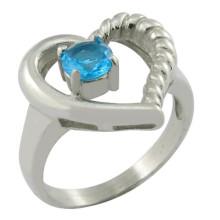Type de bijoux à anneaux et anneau de diamant en pierre principale