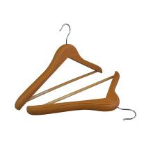 New Design Custom Luxury Coat hanger PU Leather Plants Hangers For Clothing