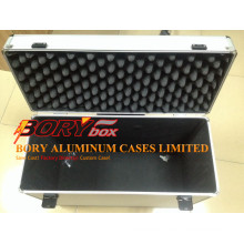 Aluminum ABS Portable Coffin Case with Wheels