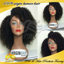 завод оптовая собранные от молодой девушки 100% бразильских волос девственницы kinky вьющиеся кружева передние парики