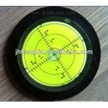High precision transparent acrylic round level vial,spirit level vial