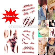 Thème de l'Halloween, stiker chaud, autocollant temporaire de tatouages