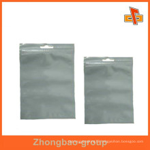 China maker food grade nylon clear transparent zippered storage bag for candy/sugar/dried food packaging