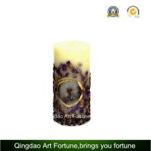 Handmade Coffee Bean Relief Design Pillar Candle Supplier
