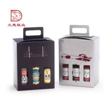 Großhandel recyclebar benutzerdefinierte Farbe Karton 3 Liter Weingläser Verpackung Box