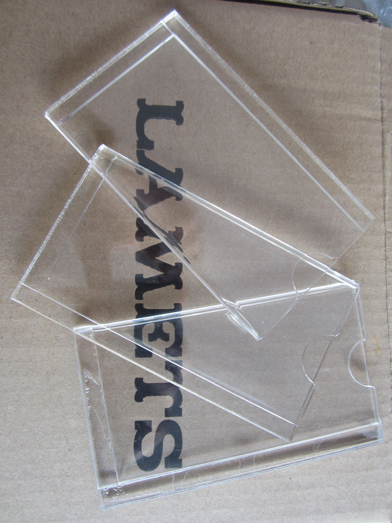 Clear Acrylic Name Card Holder