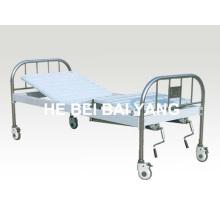 A-136 Cama de hospital móvel de duas funções manual