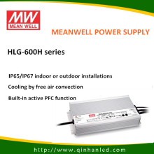IP65 600W LED Power Driver de fornecimento (Meanwell HLG - 600H)