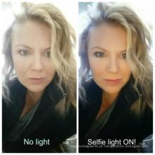 Telefone caso ilumina o rosto caso para iPhone Plus de 6/6