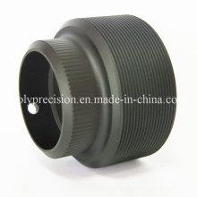 CNC точности подвергая механической обработке Алюминиевый объектив камеры, черный Анодирует