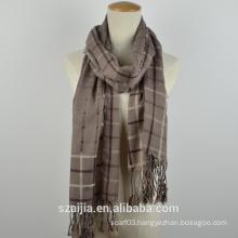 Men winter checked scarf plaid shawl