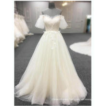 Alibaba Evening Dresses Petal Sleeve Floral Beading Long Champagne Plus Size Prom Dress