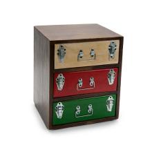 Caja de madera de 3 cajones