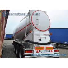 Tri-Axle 34000 L Dry Bulk Tank Truck Trailer Carbon Steel Cement Tank Semi Trailer