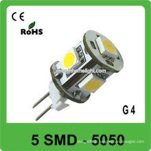 12V 5050 SMD G4 führte Lampe