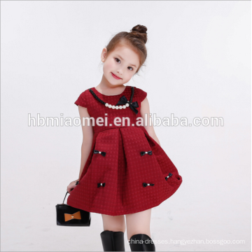 2017 Wholesale High Quality Lowest Price Red Birthday Pageant Baby Girl Wedding Dress