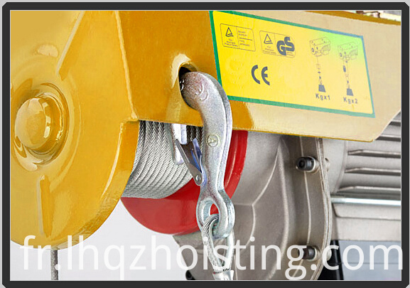 PA mini electric wire rope hoist