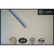 Aluminium Profile Tilt Rod for Vertical Blind Anodised Silver Cross Style
