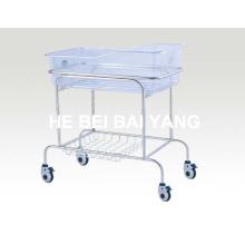 Cama de bebê do hospital de aço inoxidável