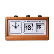 Hot sale  flip calendar day date Table Clock antique